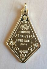 PAMP Suisse Gold Bar Pendant 10g - Finest Bullion In The World