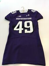 Game Worn Used Northwestern Wildcats Football Jersey #49 Size 42 Williams