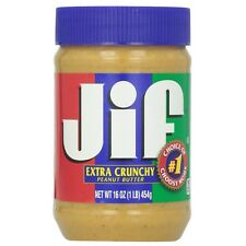 Jif Extra Crunchy Peanut Butter 16 oz (Pack of 3)