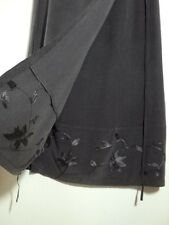 sportscraft grey silk embroidered skirt cross over 10