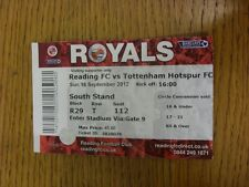 16/09/2012 Ticket: Reading v Tottenham Hotspur  (folded). Thanks for viewing thi
