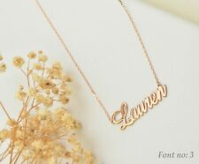 Personalised Bespoke 18K Gold Rose Silver Sterling 925 Necklace Gift Love Mother