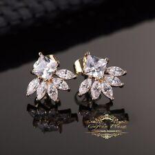 Boucles d'oreilles Cubic Zircone AAA+ 18K doré PLT mariée mariage