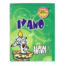COMPLEANNO biglietto musicale canta nome IVANO e TANTI AUGURI A TE