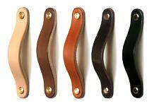 Möbelgriff 128mm, Ledergriff, Knopf, Leder, Möbelgriffe, Griffe, leather handles