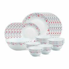 Larah Pentas Opalware Dinner Set 27-Pieces By Borosil White