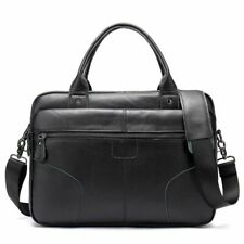 Men Genuine Leather Laptop Bag Document Office Business Totes Male Shoulder Bags
