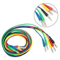 5pcs 4mm Removable Banana Plug Multimeter Test Lead Wire Cable