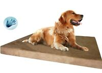 Gel Infused Waterproof Memory Foam Pad Pet Bed for Medium to Extra Large XL Dog
