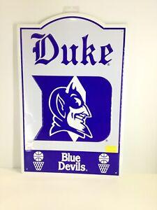 """Duke Blue Devils Nostalgic Metal Sign 11 1/2"""" X 17 1/2"""" Officially Licensed"""