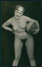 German Austrian full nude beach ball woman original 1920s gelatin silver photo