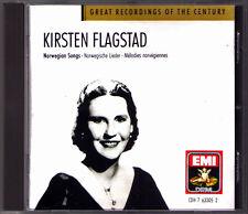 Kirsten FLAGSTAD: NORWEGIAN SONGS Grieg Alnaes Hurum Sinding Backer-Grondahl CD