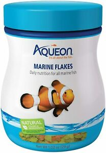 Aqueon Marine Flake fish food 1.02 oz Clownfish Wrasses Tangs