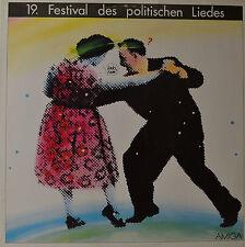 """19. FESTIVAL DES CHANSONS POLITIQUES - CHANSONS ET DIALOGUES 12"""" LP (O620)"""
