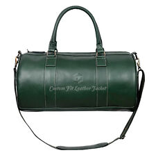 Holdall New Stylish 9098 Green Weekend Duffel Travel Gym 100 % Real Leather Bag