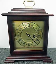 LINDEN MAHOGANY FINISH BRACKET CLOCK WITH WESTMINSTER CHIMES