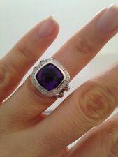 Pre Owned DAVID YURMAN ALBION 11MM Amethyst  DIAMOND RING  SIZE 7