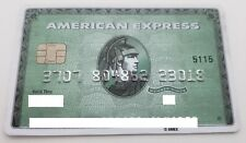 MEXICO - AMERICAN EXPRESS - EXPIRED CREDIT CARD - GREEN - WITH CHIP