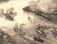 Fort Darling Virginia Balloon Attack Aeriel Perspective 1862 civil war print