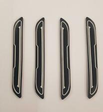 4 x Black Rubber Door Boot Guard Protectors WHITE Insert (DG5) fits MAZDA