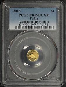 2016 Palau $1 Cephalopholis Miniata 1/2 Gram .999 Fine Gold PCGS PR-69 DCAM