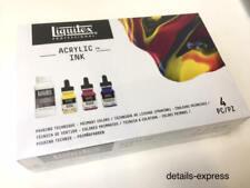 Liquitex Acrylic Ink - Primary Colours & Pouring Medium set