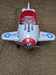 Fantastic Vintage Pursuit Children's Toy Pedal Airplane