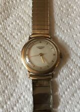 Vintage Longines 10K Gold filled Mens Watch Running ( Parts Or Repair)