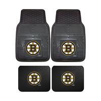 Boston Bruins NHL 2pc and 4pc Mat Sets - Heavy Duty-Cars, Trucks, SUVs