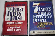Lot 2 Stephen R Covey Audio Cassette Books 7 Habits & Frist Things First