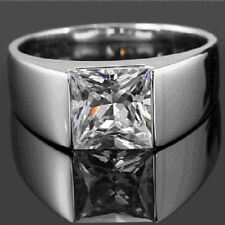 Princess Moissanite Ring 1.43 Ct Near White Engagement Party 925 Sterling Silver
