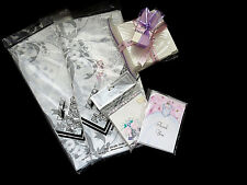 LOT Bridal Shower Party Supplies Wedding Bells Plastic Tablecloths Thank Yous
