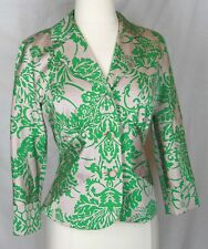 Diane Von Furstenberg Arlene jacket blazer 10 silk blend green DVF