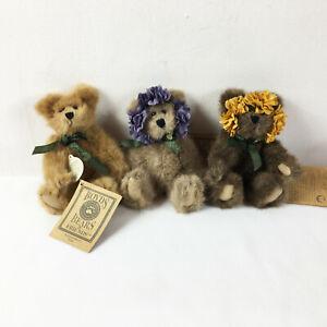 "TB6 Boyds Bears Lot of 3 Teddy Love Joy Hope Plush 5"" Stuffed Toy Lovey"