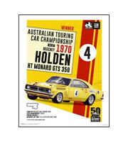 "HOLDEN HT GTS 350 NORM BEECHEY POSTER - TOURING CAR 1970 - 50 x 40 cm 20"" x 16"""