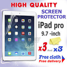 3 new High Quality Screen protective protection film foil for apple iPad Pro 9.7