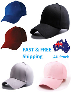 Baseball Cap Blank Curved Plain Visor white Hat Adjustable fit Pure Womens Mens