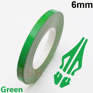 "6mm x 9.8m Pinstripe Solid Pin Stripe Tape Vinyl Decal Sticker Car 1/4"" Green"