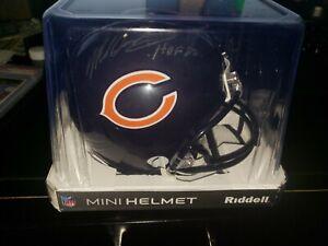 Mike Singletary Signed Auto Chicago Bears Mini Helmet Tristar HOF 98 Inscription
