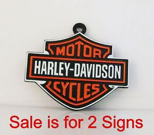 Harley Davidson Motor Cycles Miniature Sign Diorama Trains Accessory Items