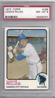 1973 Topps baseball card #188 Cookie Rojas, Kansas City Royals PSA 8 NMMT