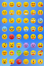 Emoji Mania! Funny Poster 24x36