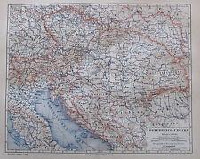 1888 ÖSTERREICH UNGARN historische Karte old map Lithographie Osztrák-Magyar