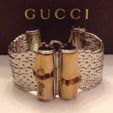 Gucci NWB Sterling Silver & Bamboo bracelet BN