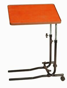 ♿Drive Angle and Height Adjustment Over Bed Table with 2 Castors♿