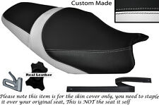 WHITE & BLACK CUSTOM FITS KAWASAKI ZZR 1400 ZX14R 12-14 DUAL SEAT COVER