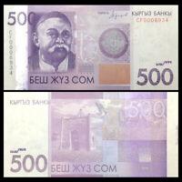 Kyrgyzstan 500 Som, 2016, P-NEW, UNC, Banknotes, Original