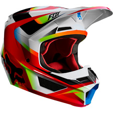 Fox Racing Adult Mens V1 Motif Riding Helmet Red ATV Moto Enduro Off Road 21775