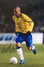 Il BRASILE RONALDO originale firmato a mano foto 30x20cm W/Coa