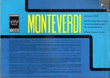 Monteverdi 375 S High Speed 1969-70 UK Market Multilingual Foldout Brochure POOR